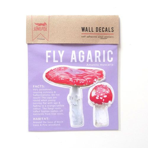 Toadstools Wall Decal (Fly Agaric) by #JuneFoxStudio on Etsy
