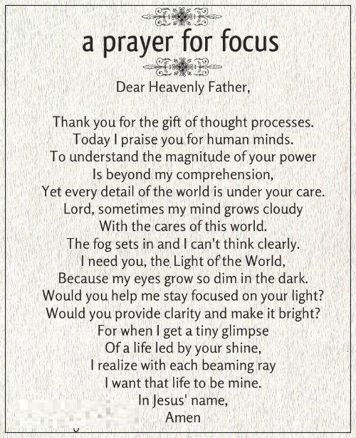 A Prayer for Focus