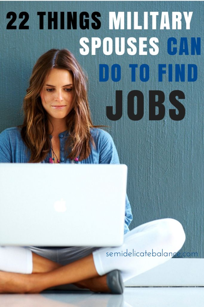 22 Things Military Spouses Can Do to Find Jobs, Military wife, milso, tips