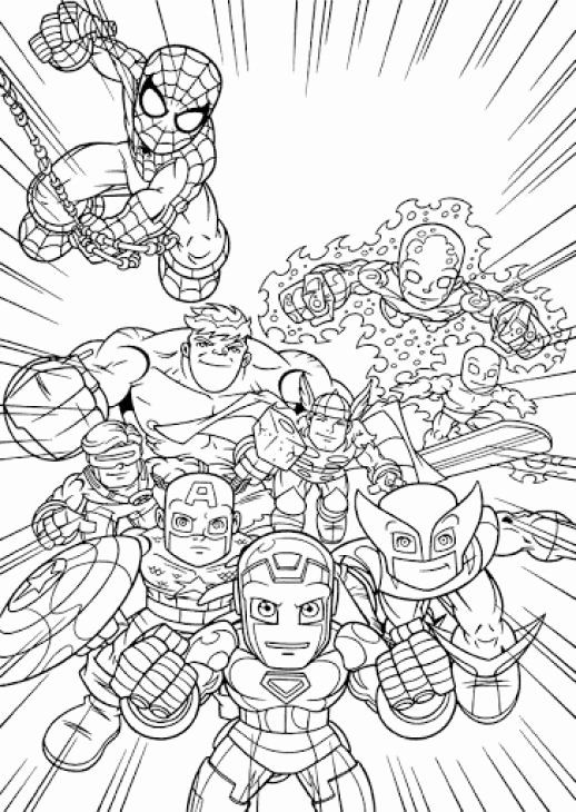 Super Heroes Coloring Page Beautiful Line Printable Image Super Hero Squad Free For Kids Kleurplaten