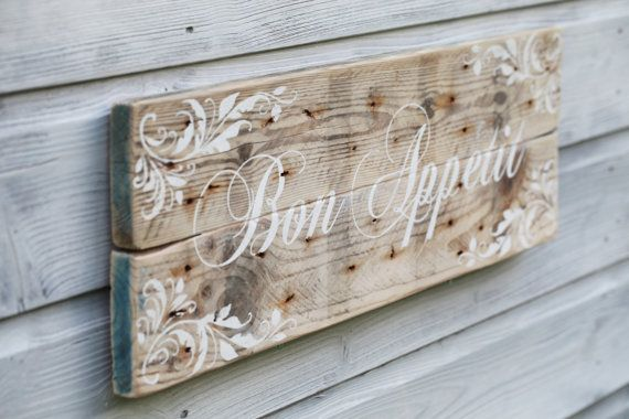 Kitchen Sign Kitchen Decor French Country by TheHeartwood on Etsy, £35.00
