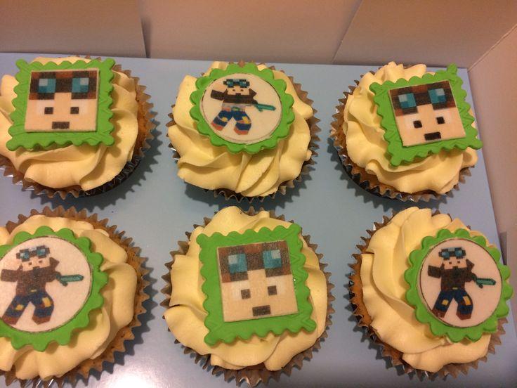 DAM TDM cupcakes. Minecraft