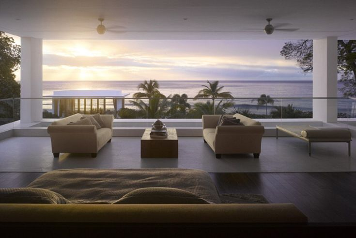 The interior design of the modern mansion in St James has been inspired by contemporary Mi...