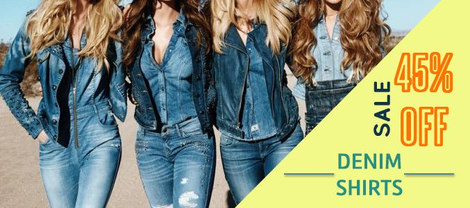 If you are looking for decking up the denim way, Oasis Shirts, one of the leading manufacturers is offering you 45% off on the bulk order you place. Denim shirts can be a formal as well as informal attire companion, enjoy your wholesale buying experience!