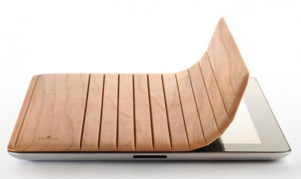 Miniot 3-way wooden iPad2 cover (several woods/colors - and personalized engraving - available)