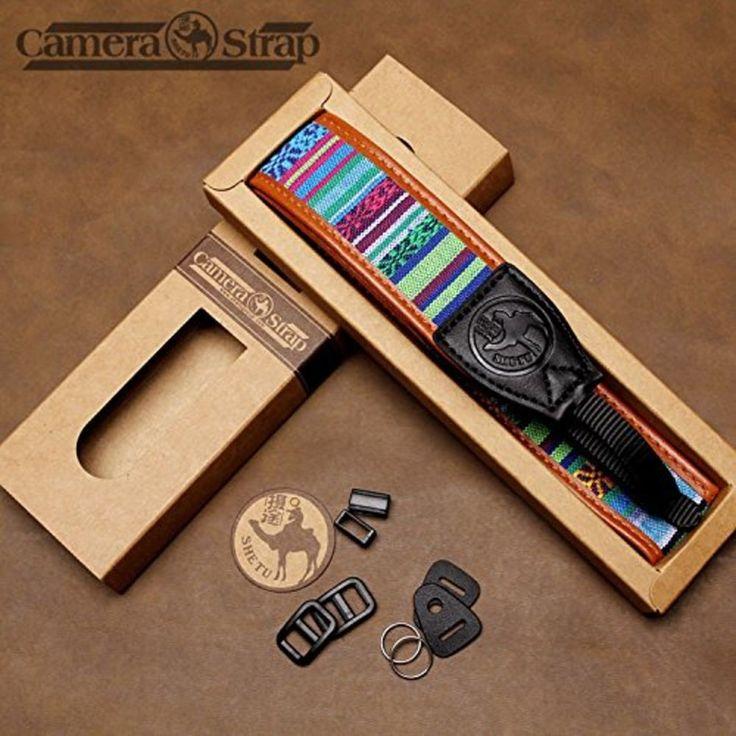Camera Straps Retro Vintage VNS Soft Multi-color Neck Strap for Canon Fuji Ni... in Cameras & Photo, Camera & Photo Accessories, Straps & Hand Grips | eBay