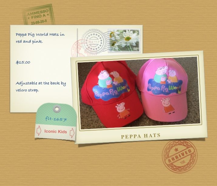 Red and Pink Peppa Pig Hats