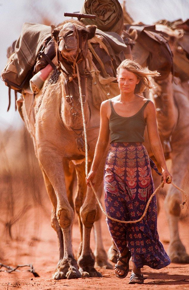 Mia Wasikowska (above) had to learn to work with the camels used in the film, set in the d...