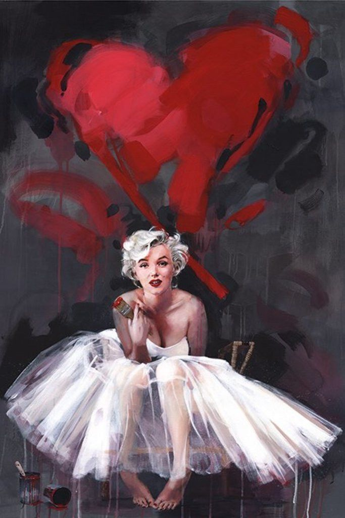 Marilyn Monroe - Paint (James Paterson) - Official Poster. Official Merchandise. Size: 61cm x 91.5cm. FREE SHIPPING