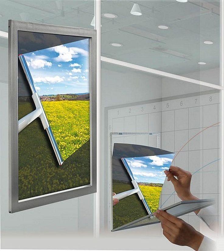 Posterrahmen Rahmen aus Kunststoff Befestigung am Fenster A4 Sonderpreis Window