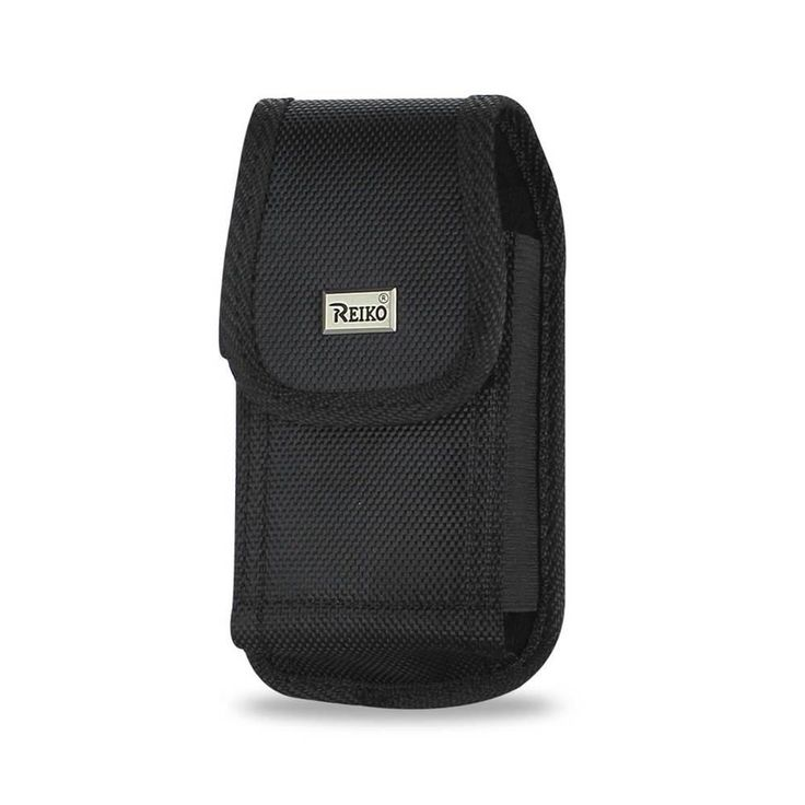 Reiko Vertical Rugged Pouch HTC Hd2 T8585 Plus Black Cell Phone With Cover