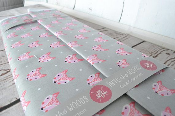 Hey, I found this really awesome Etsy listing at https://www.etsy.com/uk/listing/534046248/pink-fox-fabric-grey-cotton-fox-fabric