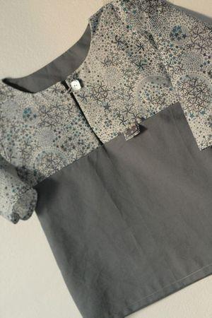 Style : chemise longue d'été (patron à acheter ou à reconstituer)