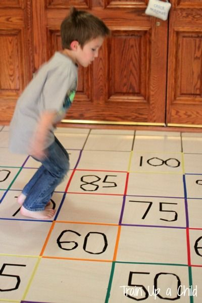 Gross Motor Game to Practice Skip Counting from Learn ~ Play ~ Imagine