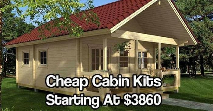 Cheap cabin kits starting at 3860 tiny cottages for Build your own mobile home online