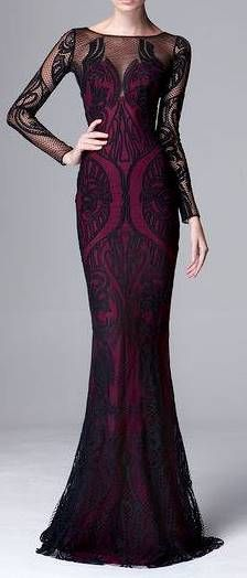 Zuhair Murad RTW Pre-Fall/Winter 2014-2015 | black | see-through | evening gown | high fashion