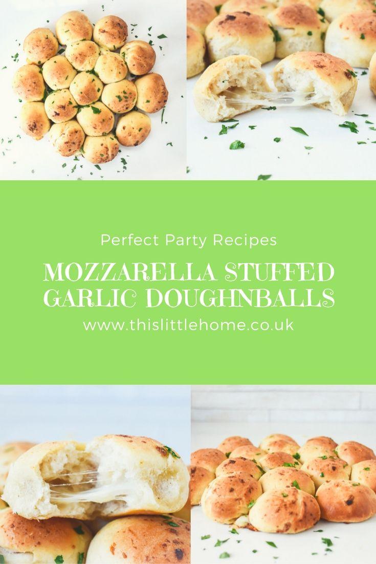 mozzarella stuffed garlic doughballs recipe