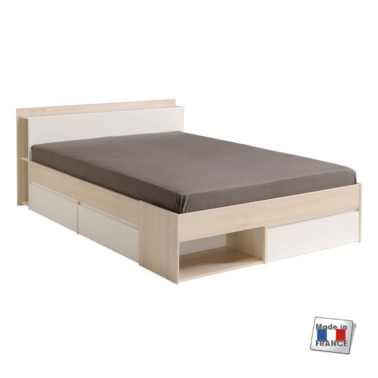 Les 25 meilleures id es concernant le tableau lit avec tiroir sur pinterest - Lit 140 x 190 avec tiroir ...