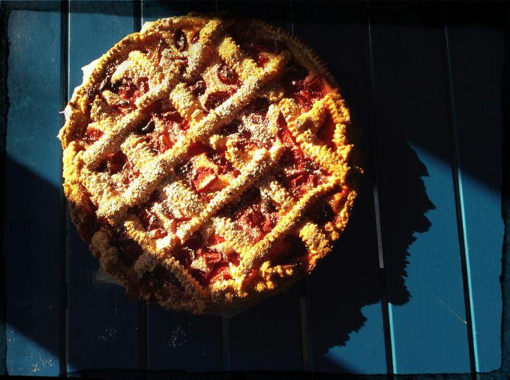 crostata con crema di ricotta e fragole # pizzeria fuorirotta # forte dei marmi # versilia