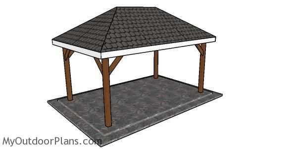 Simple 10x16 Rectangular Gazebo Plans Myoutdoorplans Free Woodworking Plans And Projects Diy Shed Wooden Playh Gazebo Plans Rectangular Gazebo Diy Gazebo