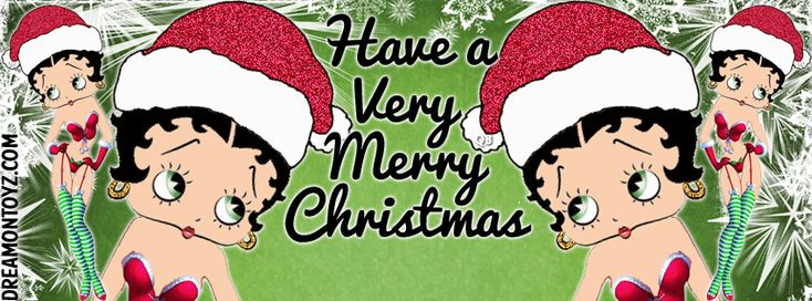 Hello Betty Boop Banners & Covers http://bettyboopcovers.blogspot.com/ & https://www.facebook.com/bettyboopcovers/  Sexy Betty Boop wearing Santa hat and lingerie with garters and stockings #Christmas  #FacebookTimelineCover