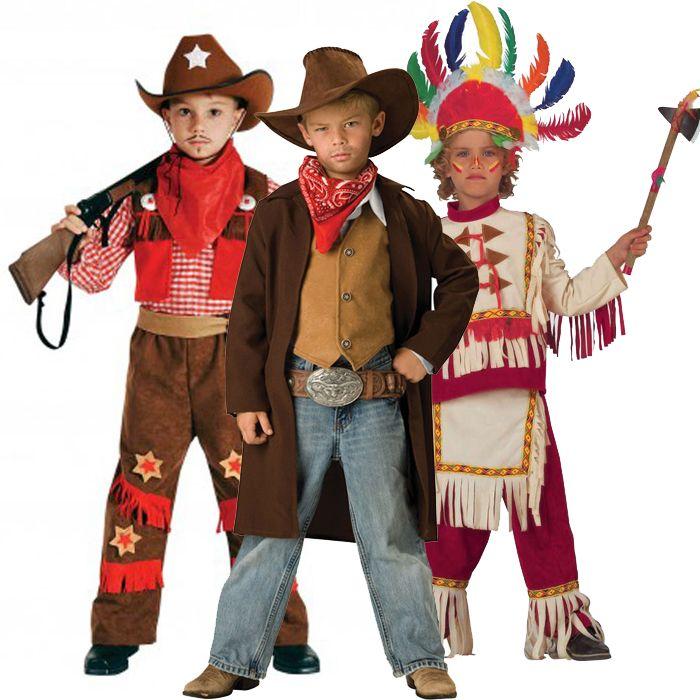 αποκριάτικες στολές για αγόρια - στολές Ινδιάνος και Καουμπόι