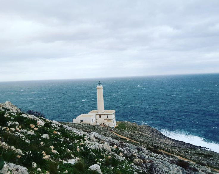 Punta Palascia, Canale d'Otranto, Italy's most eastern point with its clifftop lighthouse in a stunning moon-like rocky coastside overlooking the adriatic sea is the perfect place to celebrate the first dawn of the new year! #2018