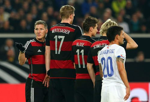 Bastian Schweinsteiger, Per Mertesacker, Miroslav Klose, and Marcel Schmelzer; Germany 1 Chile 0 (5/3/2014)