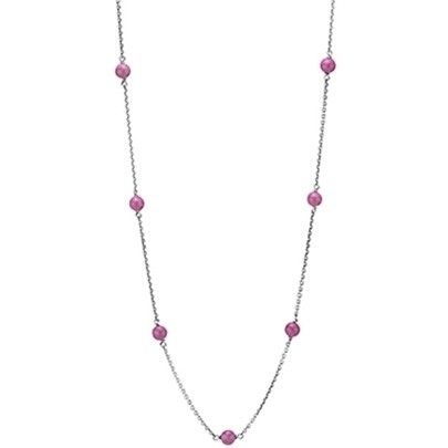 Pandora Silver Rhodonite Open End Chain Necklace