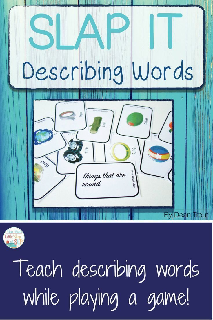 This is a very fun and exciting activity for students to learn and for you to teach descriptive words. Lots of pictures that can be described using more than one descriptive word. Perfect for speech therapy and special education in small groups.