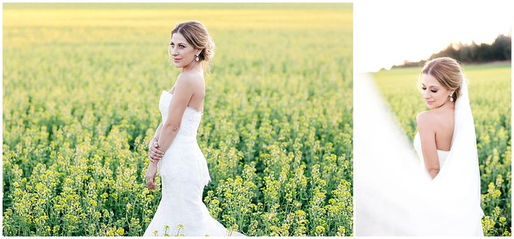www.vanillaphotography.co.za | Durban wedding photographer, Durban wedding venue, Crystal Barn wedding venue, rustic wedding venue, boho venue, bridal shoot, lace, strapless, peplum bridal gown, loose updo, field of flowers, yellow field of flowers.
