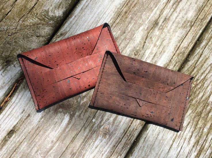 Cork Wallet Sustainable Cork Cork Fabric Cork Card by SoKoDesigns