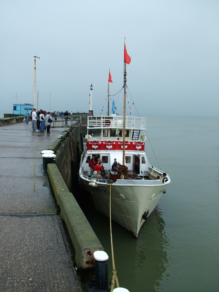 The Yorkshire Belle in Bridlington Harbour. Trips past Flamborough Lighthouse and up to Bempton Cliffs.