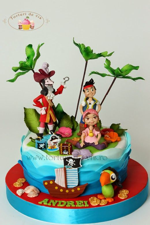 3d92d68853ee6fbf79474dad41817d5d Jake And The Neverland Pirates Birthday Cake Toppers