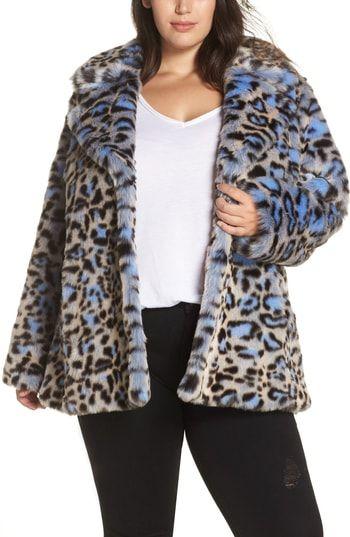 Great for Avec Les Filles Animal Print Faux Fur Coat (Plus Size) women s  coats Jacket online.   229  allfashiondress from top store 55f3e138e