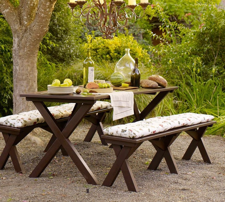 Marvelous Cushions For Picnic Table