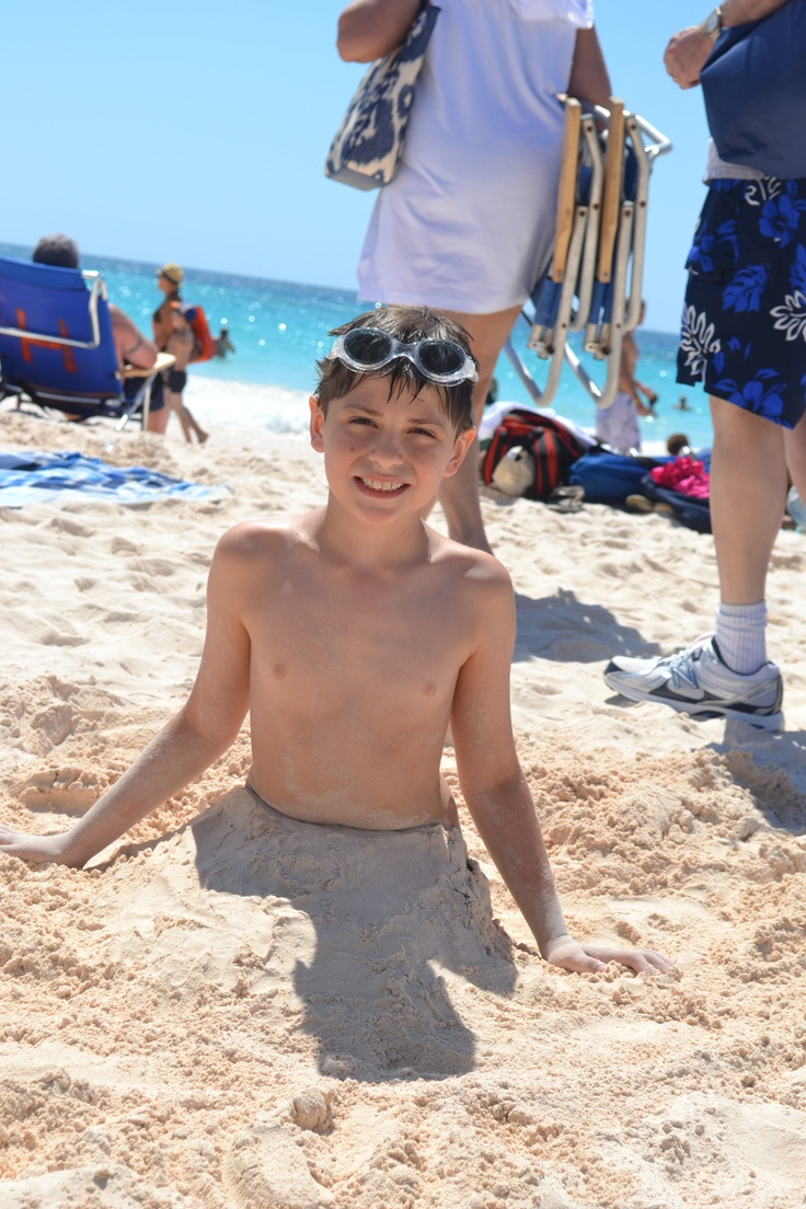 Horseshoe Bay in Bermuda.  My son playing in the pink powder sand.  One of the most beautiful beaches I have ever been to... until all the tourists showed up.  Gorgeous!