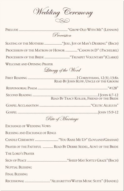 Best Ceremony Programs Images On   Ceremony Programs