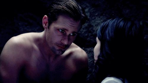 "When Eric gave Willa a reassuring look right before turning her into a vamp. | The 36 Best Eric Northman Moments From ""True Blood"""
