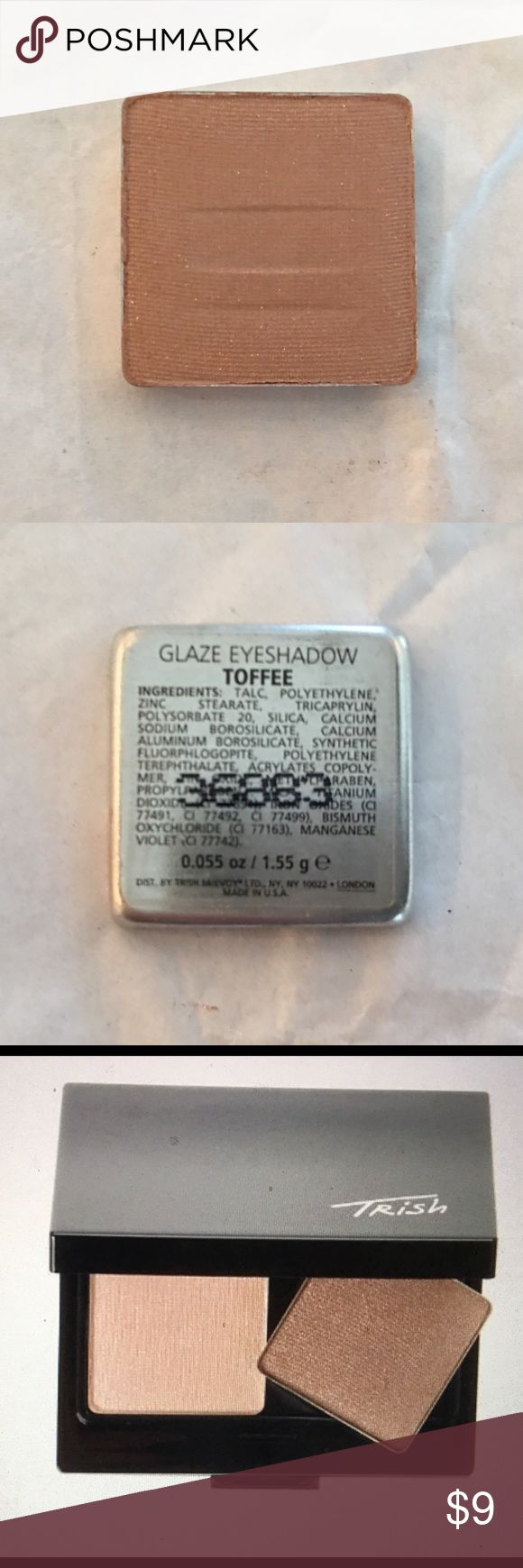 Trish McEvoy Toffee Glaze Eye Shadows Brand New. Never has been used is Trish McEvoy Toffee Glaze Eye Shadow. TM Glaze Eye Shadows give eyes a delicate Shimmer. Fits in TM Make Up wardrobing system. Trish McEvoy Makeup Eyeshadow
