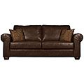 Existing Brown leather sofa bed in my office - similar to this