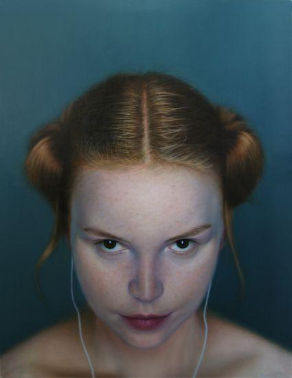 Michal Ozibko iDeath I. 220x170cm oil and acrylic on canvas 2010