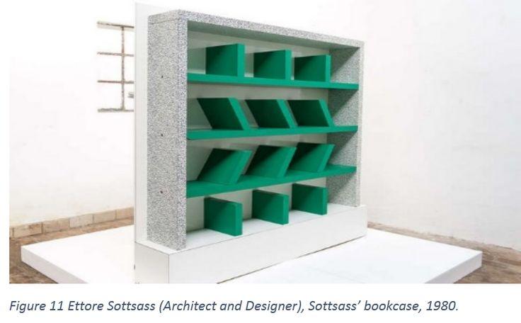 Figure 11 Ettore Sottsass (Architect and Designer), Sottsass' bookcase, 1980.