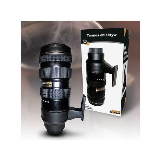 Termos designerski - obiektyw Nikon  #termos #kawa #obiektyw #design