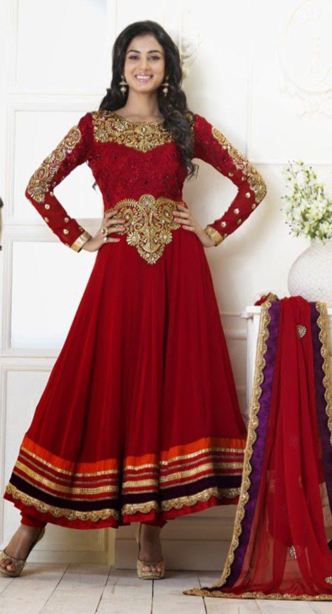 Splendorous Crimson Salwar Kameez $143.00