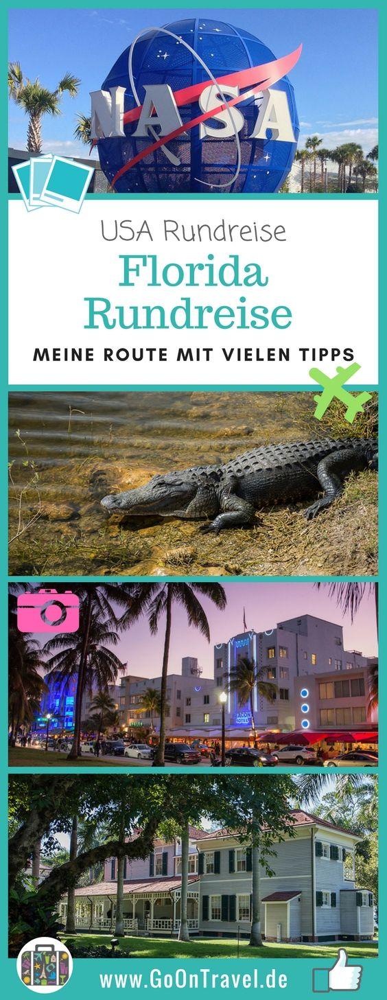 Nach #Florida locken die  palmengesäumten Strände, die monumentalen Bäume, die Sumpfgebiete mit den #Alligatoren oder der Art Deco Distrikt von #Miami. Hier gibt es Tipps für eine Rundreise im Sunshine State mit Mietwagen und jeder Menge Highlights.  #ArtDecoMiami #RundreiseFlorida #FloridaTipps #FloridaRundreise