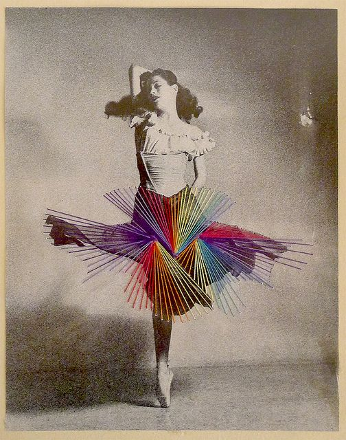 Jose Ignacio Romussi Murphy. Embroidery on photography. I love this dance series. Could do for string art project this year