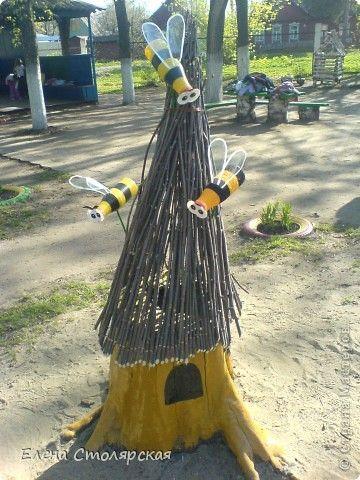 Artigianato, la modellazione del prodotto: Alveare con le api e altre cose ...  Bottiglie di plastica.  Foto 1