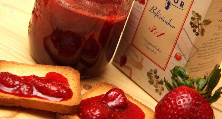 Eper-rózsabors dzsem recept