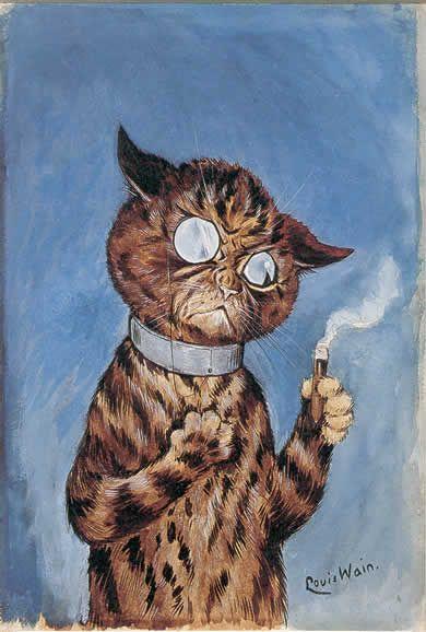 Cat smoking a cigar